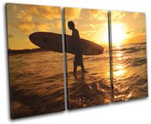 Surfer Sunset Seascape - 13-0962(00B)-TR32-LO